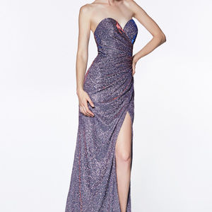 Strapless Evening Leg Slit Prom Long Dress